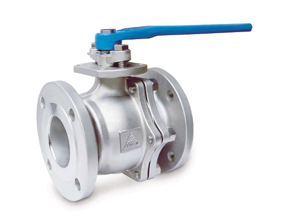 Industrial Lever Ball Valve End : Two pieces flanged ball valves iso mounting